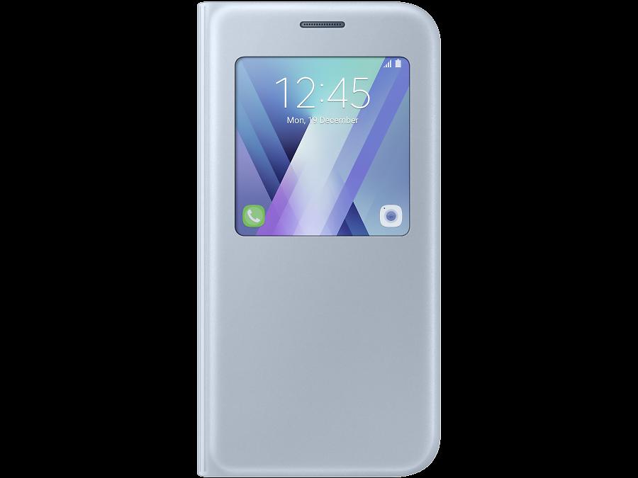 Чехол-книжка Samsung для Samsung Galaxy A5 (2017), полиуретан, голубой